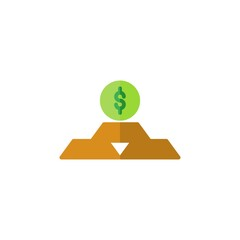 wealth flat Icon. bank and financial vector illustration on white background