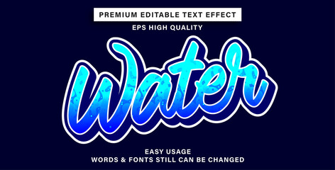Wall Mural - Text effect style water