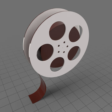 Stylized film reel