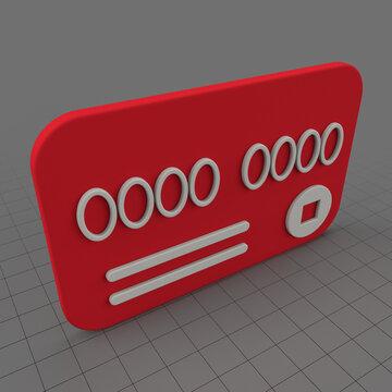 Stylized credit card