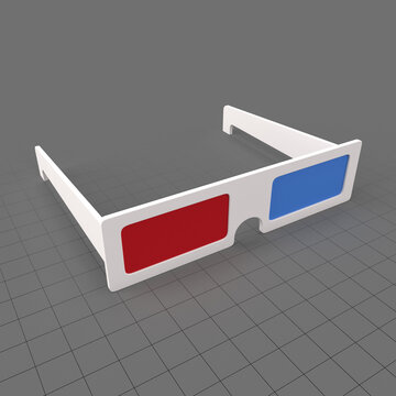 Stylized cinema glasses