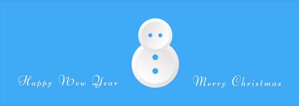 vector image of a snowman in the form of buttons with Christmas wishes