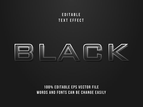 Black text effect, Editable text effect