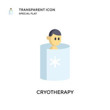 Cryotherapy vector icon. Flat style illustration. EPS 10 vector.