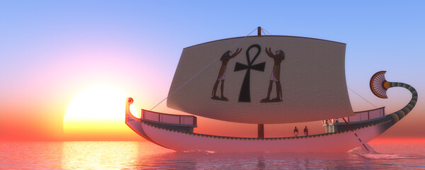 Hatshepsut's Ship - Hatshepsut was the female fifth pharaoh of the Eighteenth Dynasty of Egypt and reestablished a trading network.