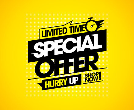 Limited time special offer vector sale banner