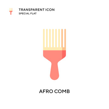 Afro comb vector icon. Flat style illustration. EPS 10 vector.