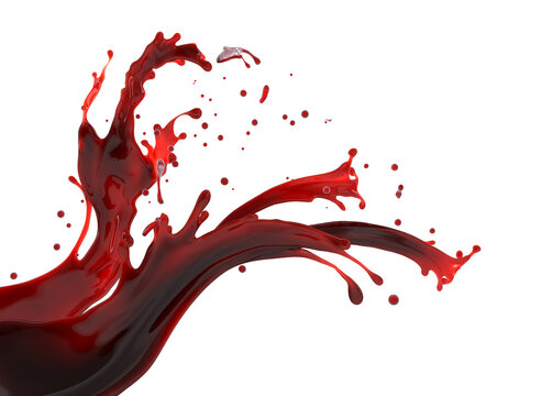 red wine splash isolated