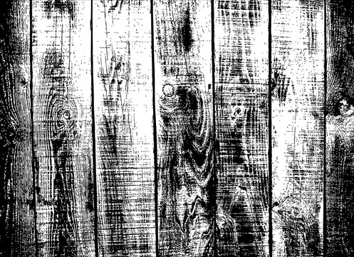 Vector Wood Texture Overlay. Weathered Wooden Planks Background. Rustic Barn-wood Backdrop. Distressed Timber Textured Surface.