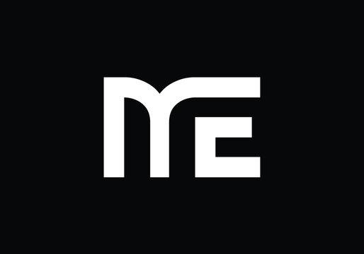 Initial Monogram Letter M E Logo Design Vector Template. M E Letter Logo Design