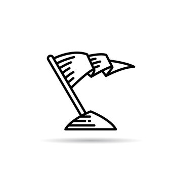 flag icon vector illustration on white background