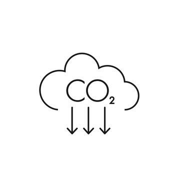 co2. vector line icon