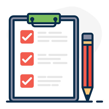 A trendy vector of product list, editable flat icon