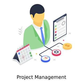A project management illustration design, service provider