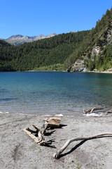 Lake Mittersee near Lermoos. Tyrol. Austria