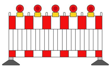 Absperrung mit Lichter in rot Vektor Grafik