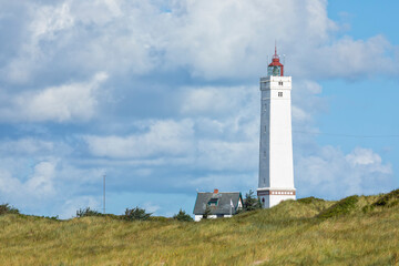 Lighthouse of Blåvand at the Danish North Sea Coast