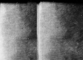 Dust scratches texture. Photo editor layer. Grunge black white noise effect background.