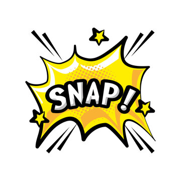 pop art snap explosion bubble detailed style icon vector design
