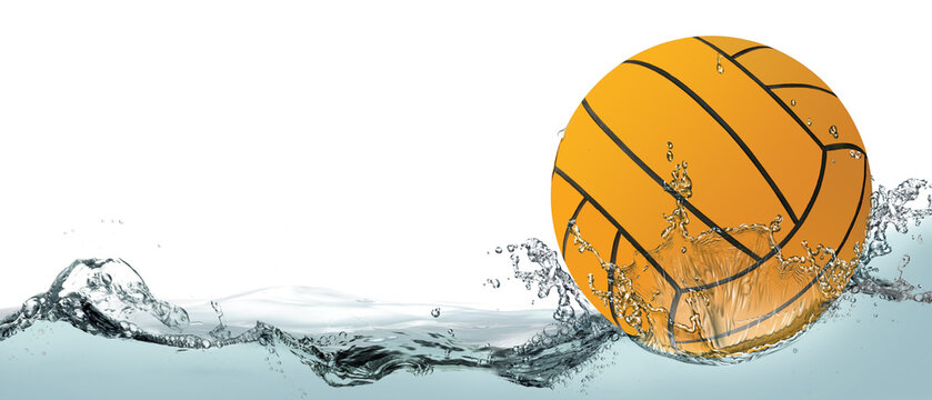Water polo, background with ball.