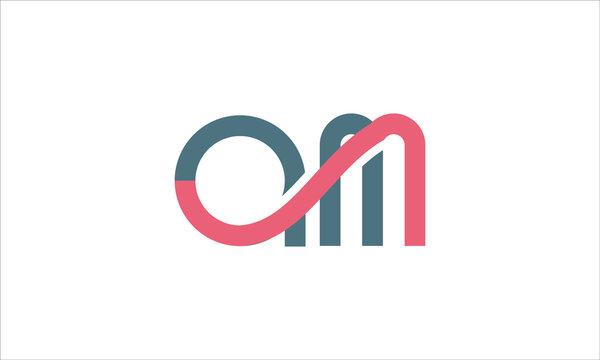 Letter AM logo icon design template elements