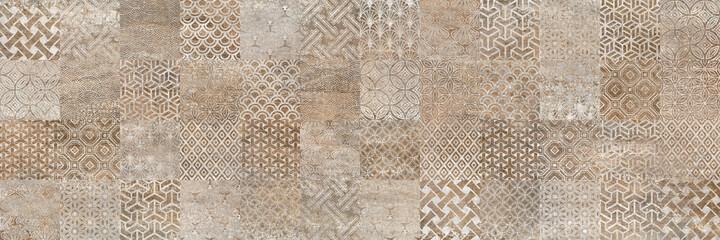 retro tile pattern vintage background