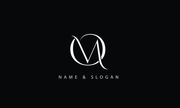 OM, MO, O, M abstract letters logo monogram