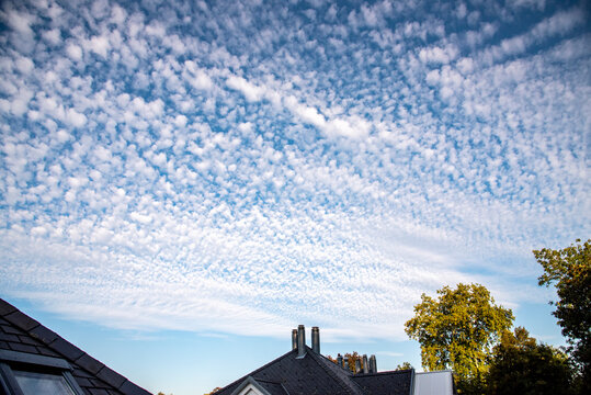 typical cirrocumulus clouds over Switzerland