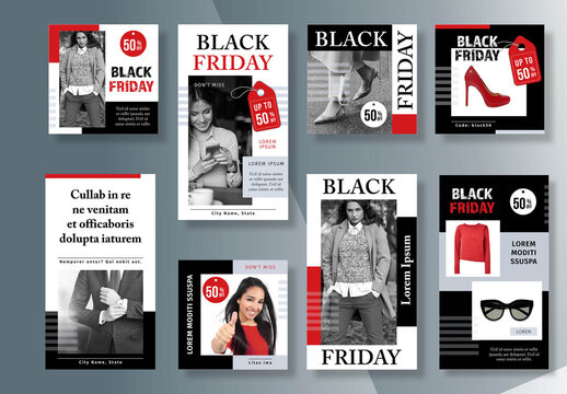 Black Friday Social Media Kit Layout
