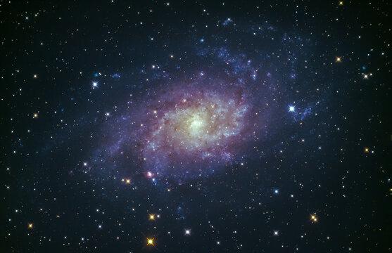 M33 the Triangulum galaxy glowing in the night sky over Cornwall, UK