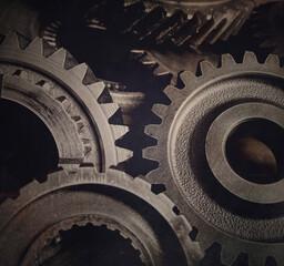 Steel cog gears