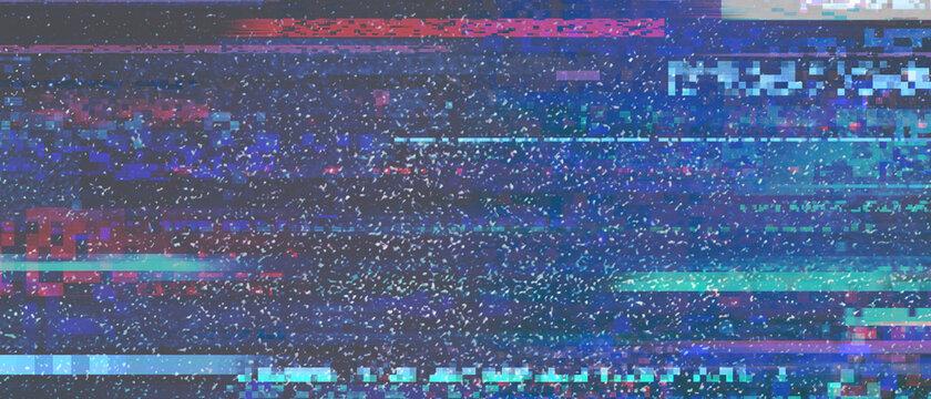 Dark glitch old VHS TV background
