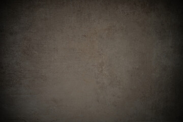 scratched concrete stone wall vintage background with vignette