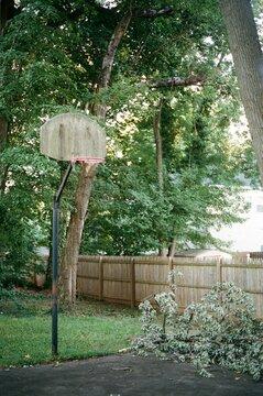 Basketball Hoop in the backyard of McLean, VA