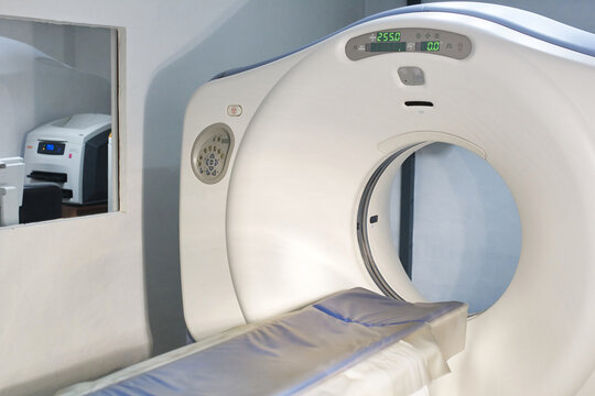 CT Scan with control room at the back