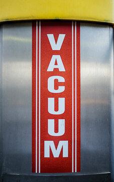 Vacuum cleaner machine at a car wash