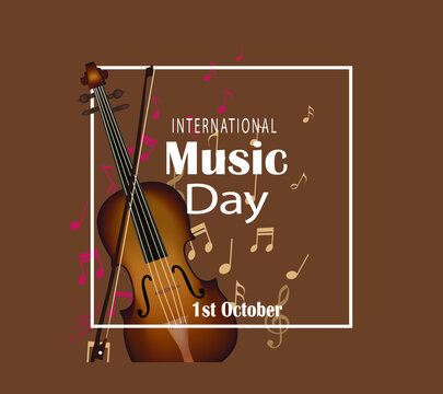 International music day celebration vector flat icon. Happy world music day vector template flat style icon.