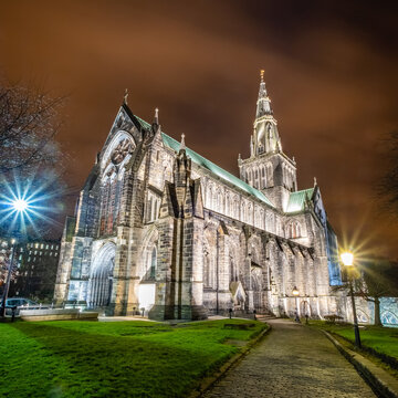 Glasgow Cathedral at Night