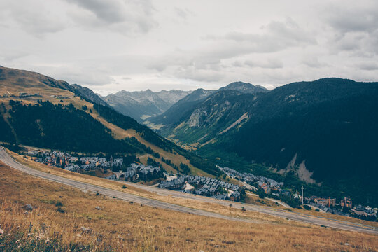 High mountain landscapes located in Baqueira beret.
