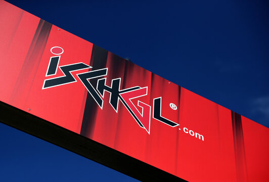A banner shows the logo of the ski resort in Ischgl