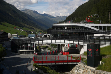 The cable car station is seen in Ischgl