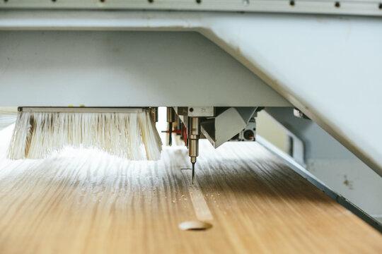 close up of a drill of a CNC machine
