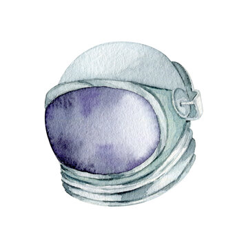 Watercolor astronomy space suit