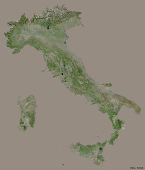 Italy on solid. Satellite