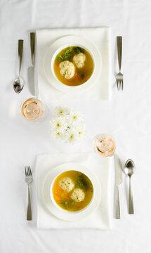 Matzah Ball Soup for Passover