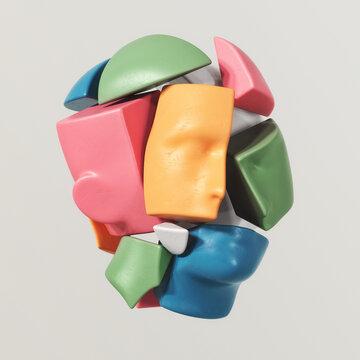 3D puzzle of human head