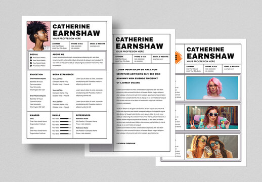Creative Resume Layout