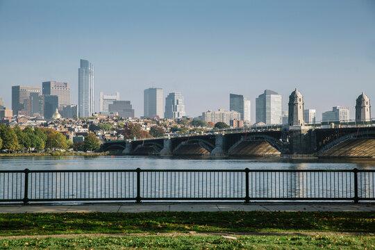 View of Boston from Cambridge, MA