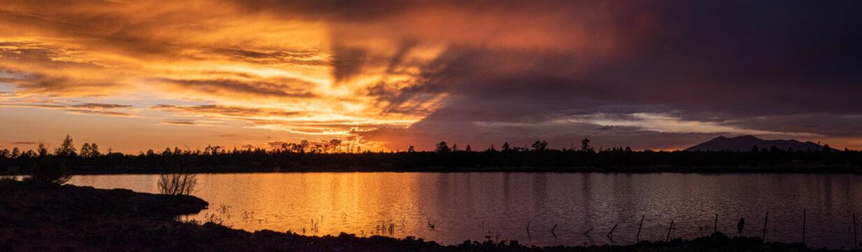 Beautiful orange and purple sunset