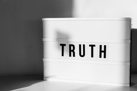 Lightbox with the word Truth